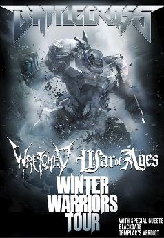 Battlecross - Winter Warriors Tour at Dingbatz Clifton, NJ - Saturday, December 27th 2014 at 6:00 PM 10 tickets donated